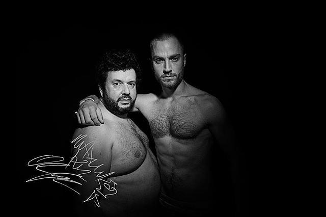 Astra & Astral: German comedian and author Oliver Polak & musician Maxim (K.I.Z.) Part of my @leica_camera series SIGNED. More on menschfotograf.com